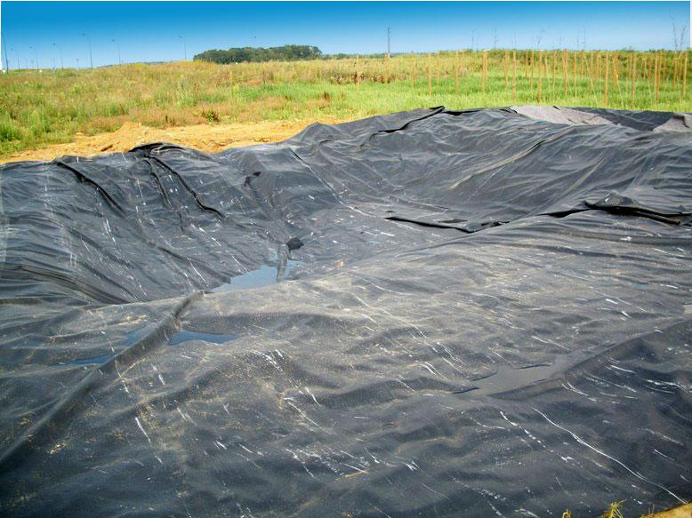 Biosenteurs avancement travaux la chaumont 39 oise for Bache pour bassin de retention d eau